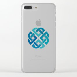 St. Patrick's Day Celtic Blue Knot #2 Clear iPhone Case