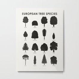 European Tree Species Metal Print