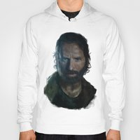 rick grimes Hoodies featuring The Walking Dead - Rick Grimes by firatbilal