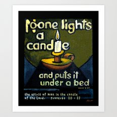 The Candle Art Print