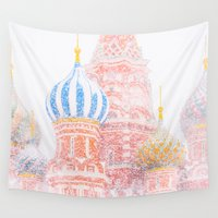 russian Wall Tapestries featuring Russian Winter by digital2real