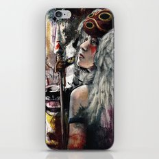 Mononoke San and The Spirit of the Wolf iPhone & iPod Skin