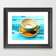Latte coffee cup dregs Framed Art Print