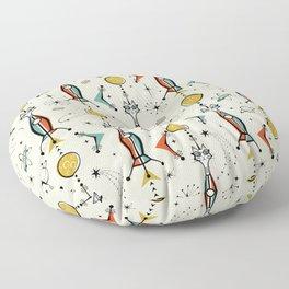 Atomic Kitty Rockets ©studioxtine Floor Pillow