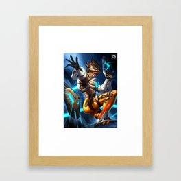 tracer over Framed Art Print