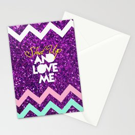 SHUT UP AND LOVE ME © PURPLE LIMITED EDITION for IPHONE Stationery Cards