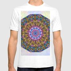 Vibrant mystic kaleidoscope White Mens Fitted Tee MEDIUM