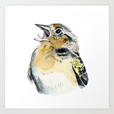 Grasshopper Sparrow Art Print