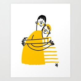 Hugs for Hugs Art Print