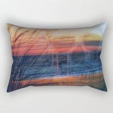 Beach Skull Rectangular Pillow