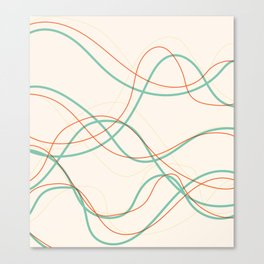 Flowing Lines Contrast Bright Canvas Print