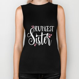 youngest sister love family tribe matching daughter kids sister Biker Tank