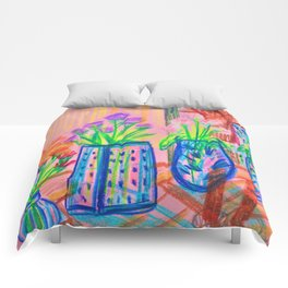 Flowers at Dawn Comforters