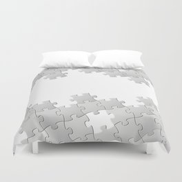 Puzzle white Duvet Cover