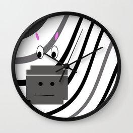 Zane the Zebra Wall Clock