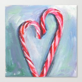 Candy hearts. Sweet couple. Valentine's day card Canvas Print
