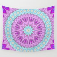girly Wall Tapestries featuring Girly mandala by David Zydd