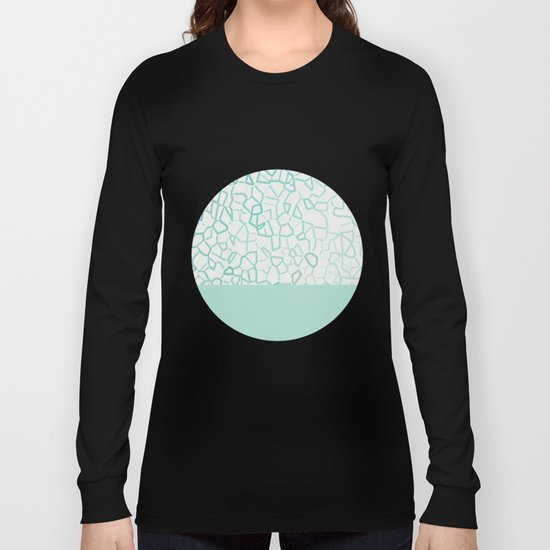 Abstract on Turquois Long Sleeve T-shirt