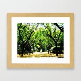 A Woman Alone Framed Art Print