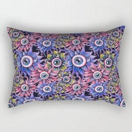 The Devil's Flower Garden - Demonic Eyeball Flowers Rectangular Pillow