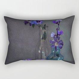 Darkness Falls on Purple Blooms Rectangular Pillow