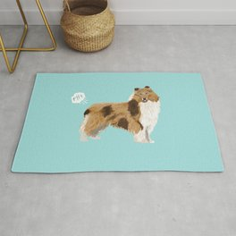 rough collie funny farting dog breed pure breed pet gifts Rug
