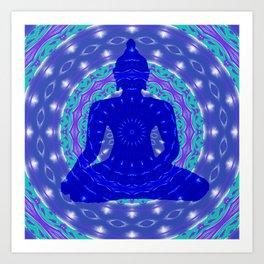 Blue Medicine Buddha Mandala Art Print