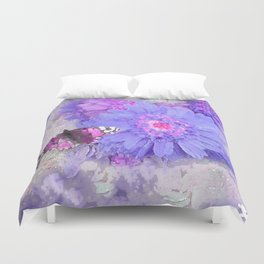 Daisy and Butterfly Duvet Cover