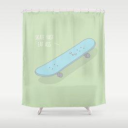 Skate Fast #kawaii #skateboard Shower Curtain
