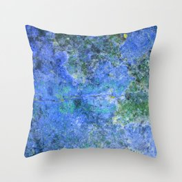 Moment of Epiphany: Royal Blue Version Throw Pillow