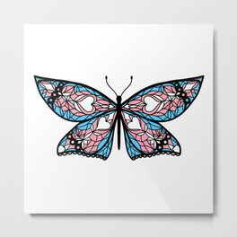 Fly With Pride: Transgender Flag Butterfly Metal Print