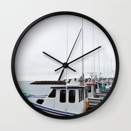 Lobster Boat Line-up Wall Clock