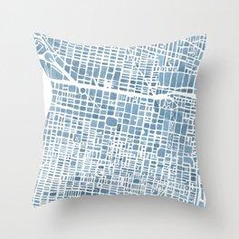 Philadelphia City Map Throw Pillow