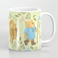 hiking Mugs featuring Hiking Bears by Joy Paton