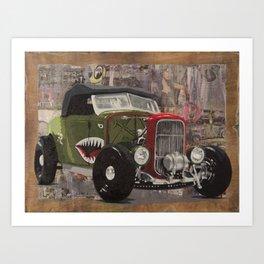 '32 Ford Roadster Warhawk Edition Art Print