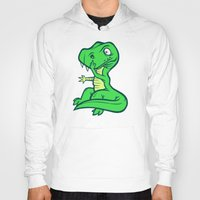 trex Hoodies featuring T-Rex Booger by Artistic Dyslexia
