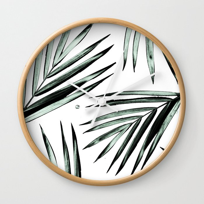 Palm Leaves Pattern #2 Wall Clock