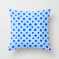 polka dots Throw Pillows featuring Polka Dots by Texture