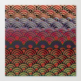 Art Deco Seigaiha 1 Canvas Print