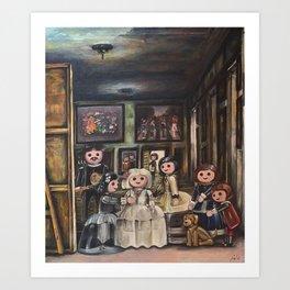 Meninas Playmobil Art Print