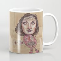 anatomy Mugs featuring ANATOMY LESSON by busymockingbird