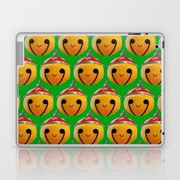 Christmas Bells Green Laptop & iPad Skin