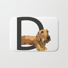 D is for Dachshund Bath Mat