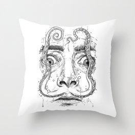 octopus dali Throw Pillow