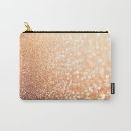 The late Sunset- Rosegold Gold glitter pattern Carry-All Pouch