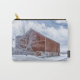 Snowing at the Farm Carry-All Pouch