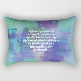 The only means of strengthening one's intellect - Keats Rectangular Pillow