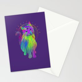 Psychedelic Psychic Cat Stationery Cards