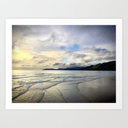 Pismo Beach, California Dramatic Ocean Sunset Art Print