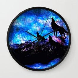 Wolf Trio Wall Clock